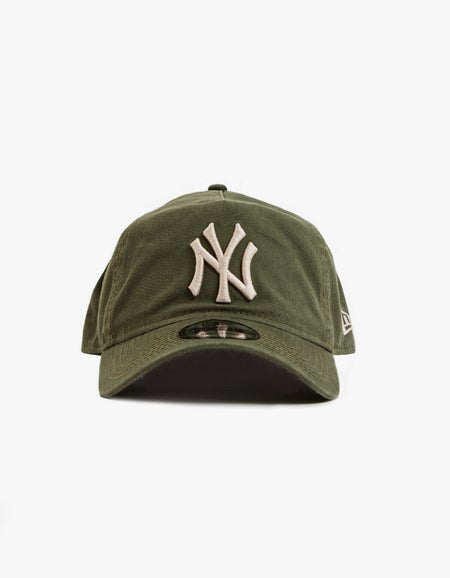 New York Yankees 9FORTY A Frame Snapback - Washed Olive