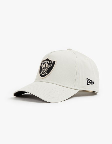 Oakland Raiders 9FORTY A Frame Snapback - Stone/Black