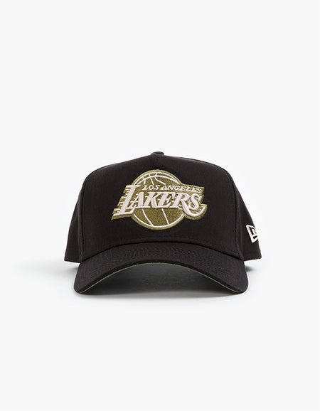 Los Angeles Lakers 9FORTY A Frame Snapback - Black/Olive