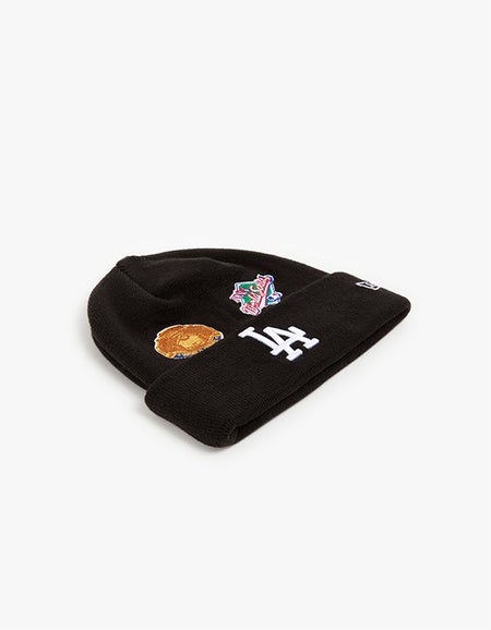 Los Angeles Dodgers All Over Champ Knit Beanie - Black
