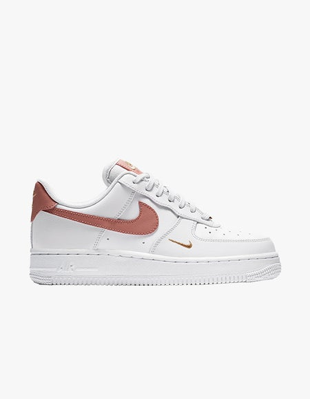 Womens Air Force 1 07 Ess - White/Rust Pink