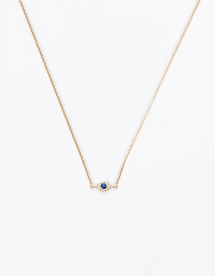 Eye Necklace - Gold Plated