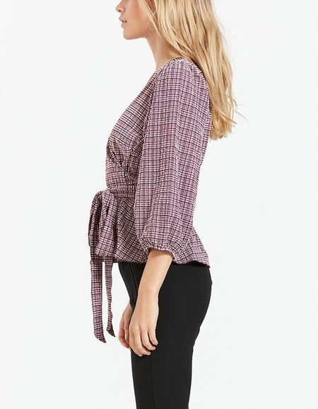 Pam Top - Rose Check