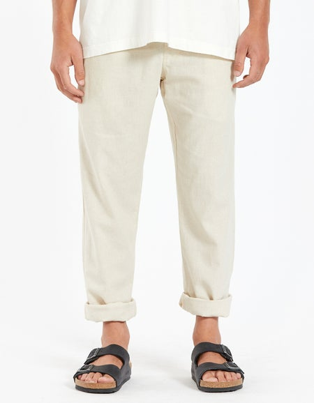 Linen Long Pant - Army