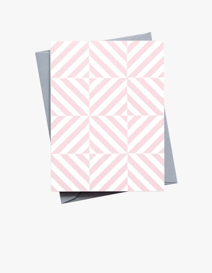 Alma Small Patterned Card - Pink