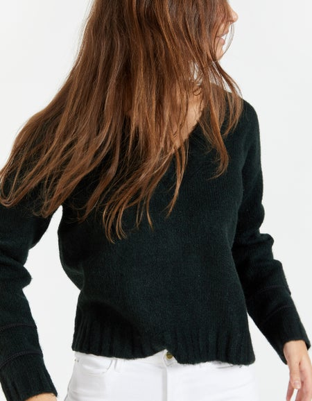 Off Duty Knitted Sweater - Army Green