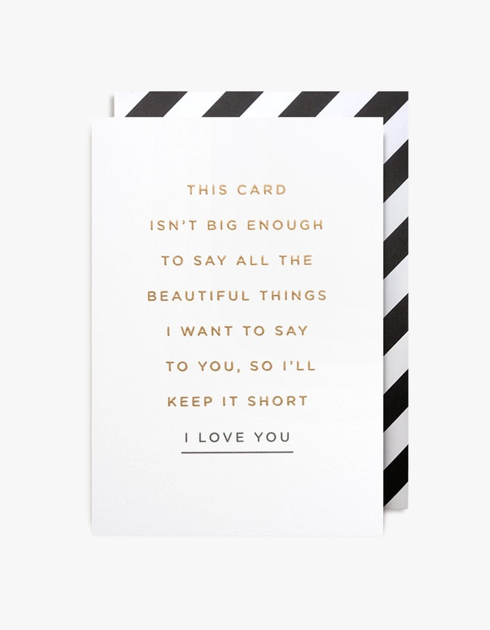 I Love You Card - White