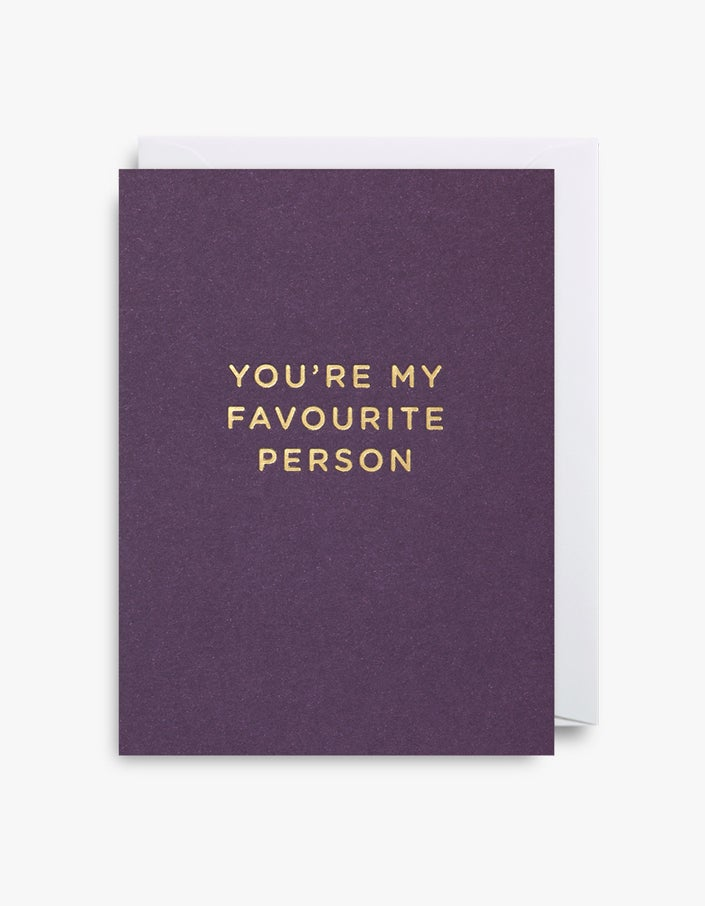 My Favourite Person Card - Purple