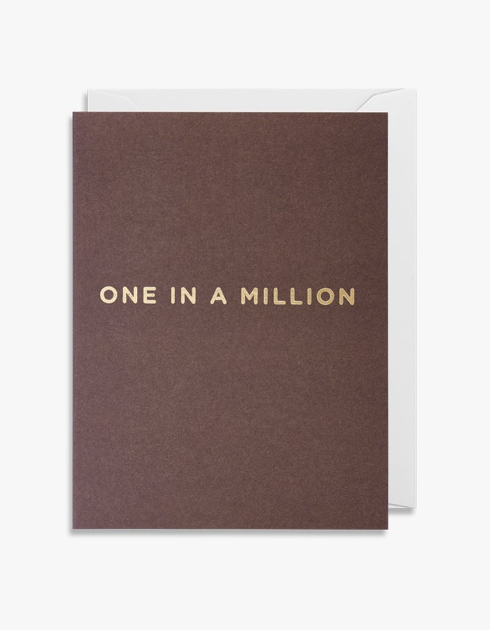 One In A Million Mini Card - Brown