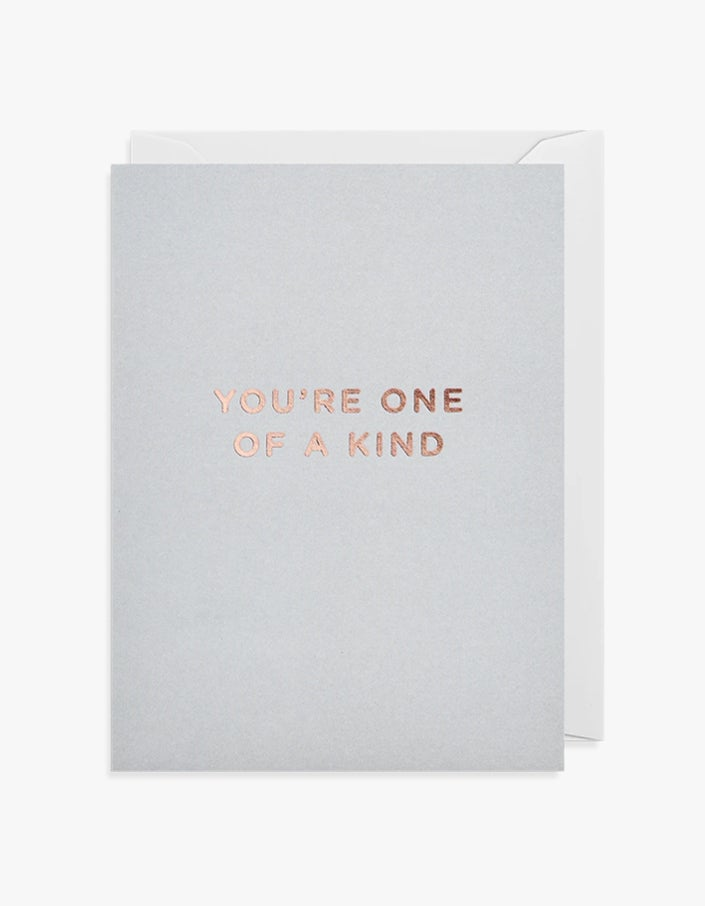 One of a Kind Card - Grey