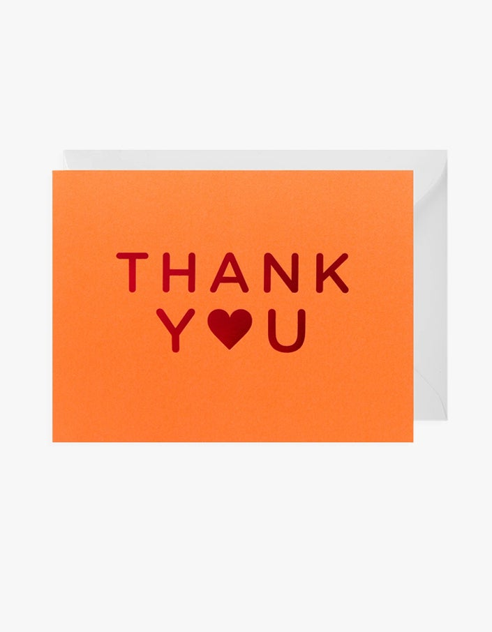 Thank You Card - Orange