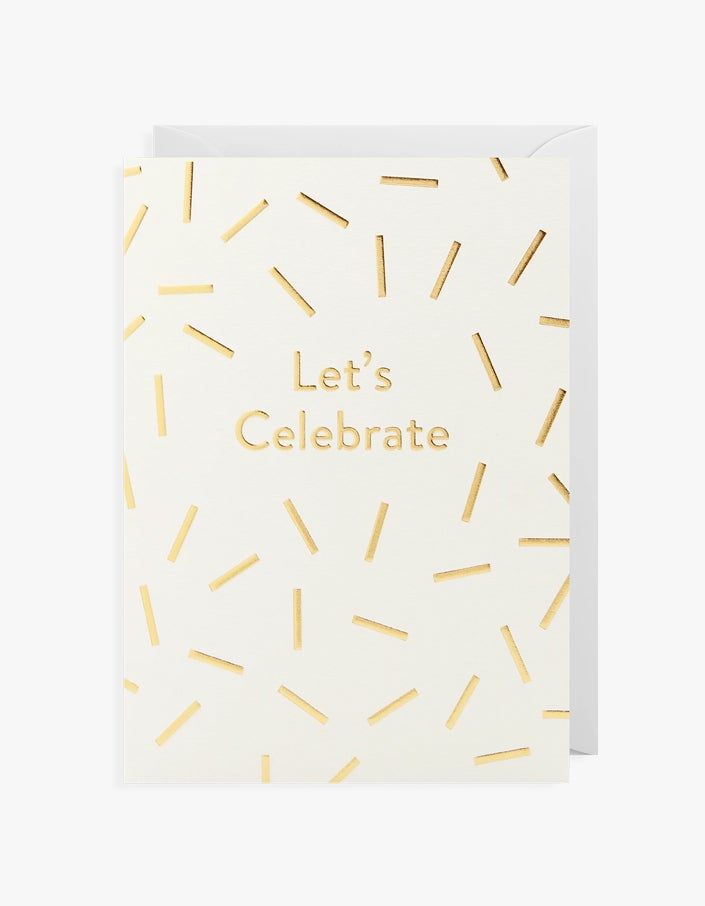Lets Celebrate Card - White