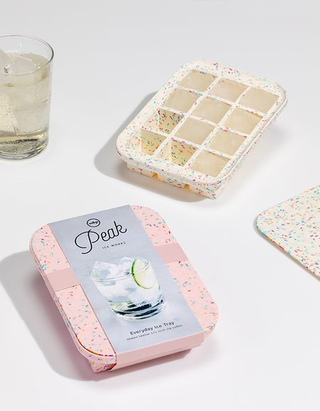 Ice Cube Tray - Speckled White