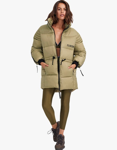 Full Court Jacket - Olive Gray