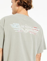 Rally Eagle Vintage Tee - Cement