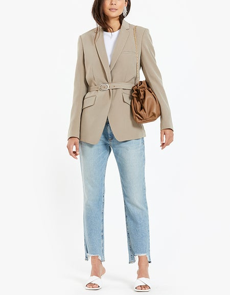 Belted Andre Blazer - Clay