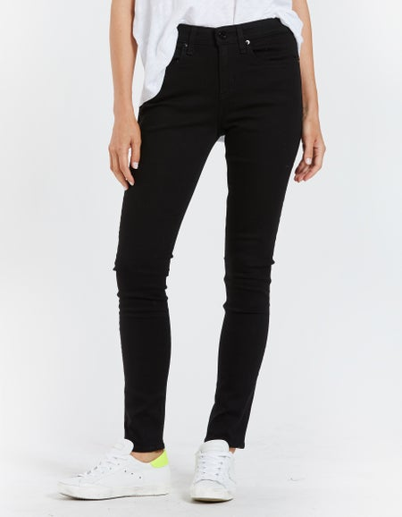 Cate Mid Rise Skinny - No Fade Black