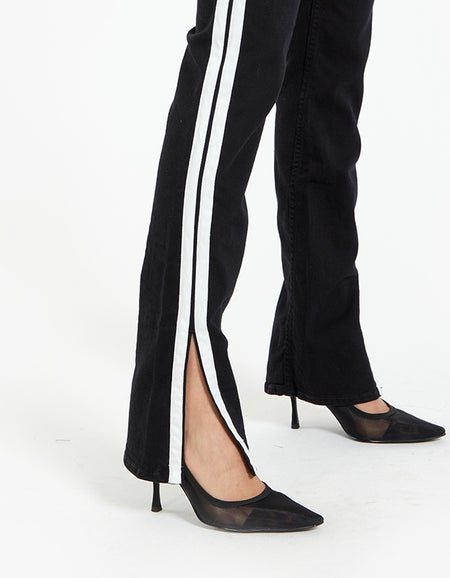 Cate Mid Rise Flare - Clean Blac