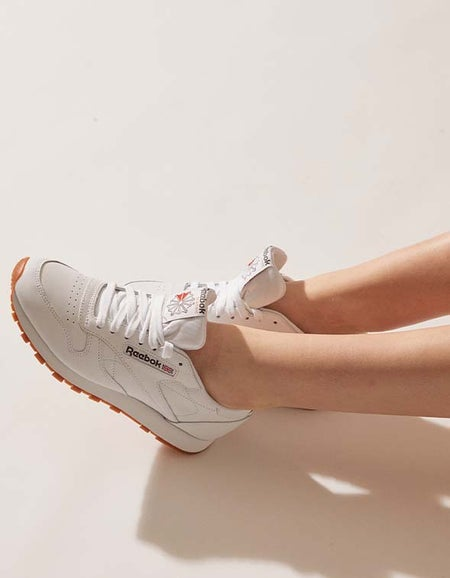Womens Classic Leather - Intense White/Gum