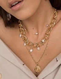 Royal Chain Necklace - Gold Plated