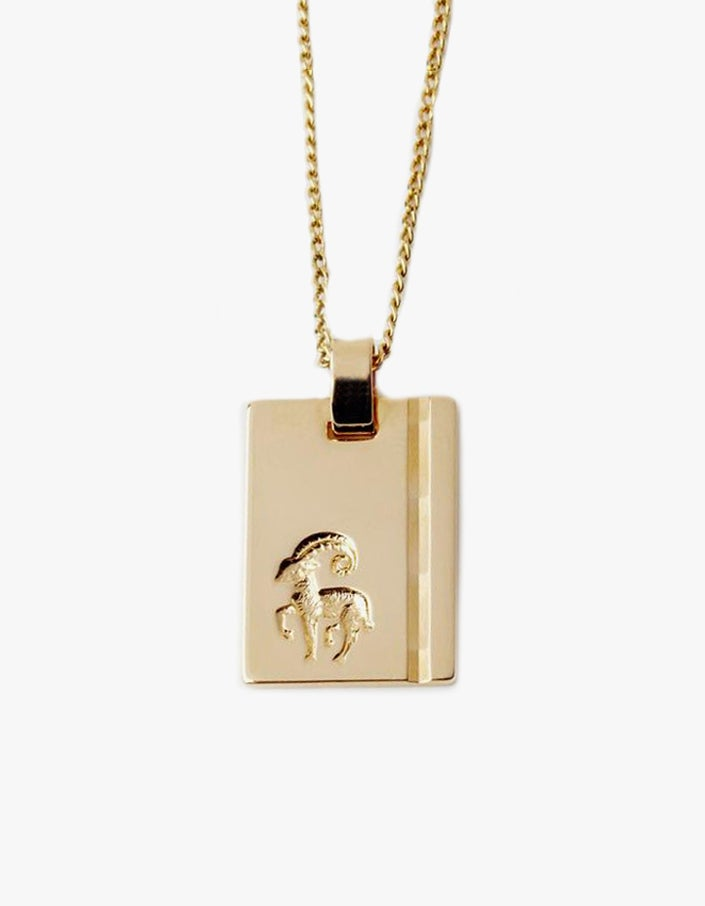 Star Sign Aries Pendant - Gold Filled