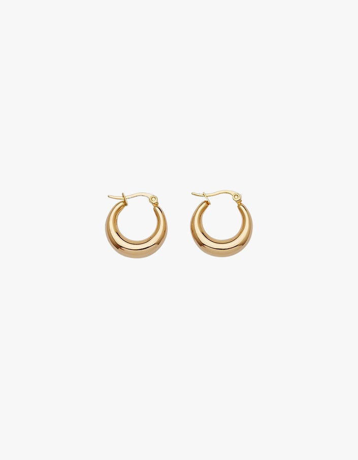 Baby Coralia Hoops - Gold Filled
