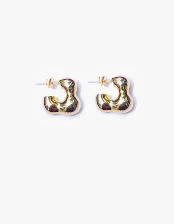 Molten Earrings - Gold Plated