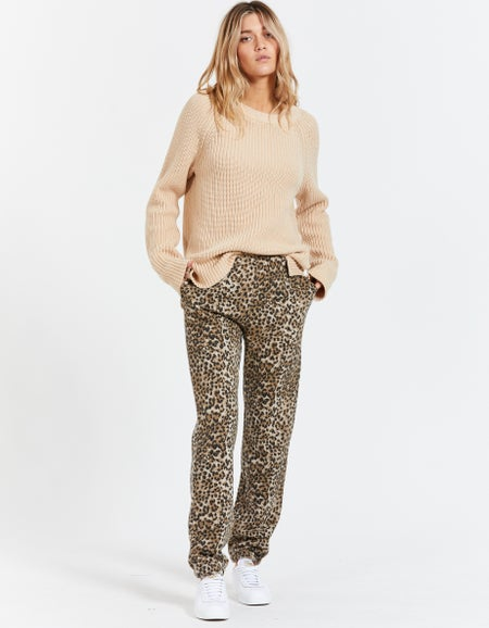 Jogger - Brown Leopard