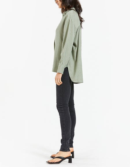 Polly Blouse - Green Mint