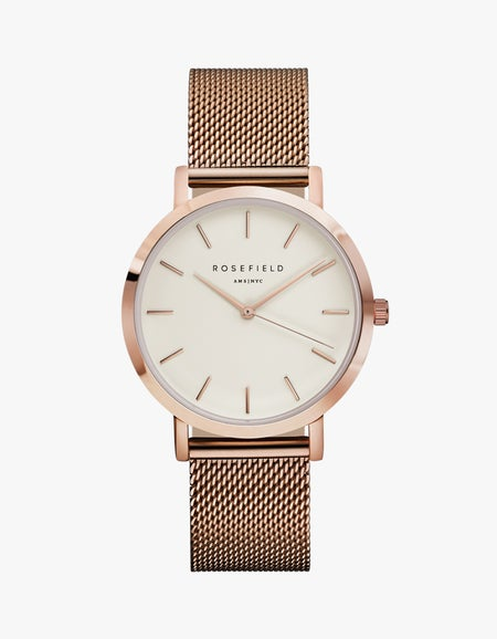 The Mercer Watch - White/Rose Gold Plated