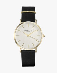 The West Village Watch - White/Black/Gold Plated