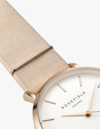 The West Village Watch - White/Soft Pink/Rose Gold Plated
