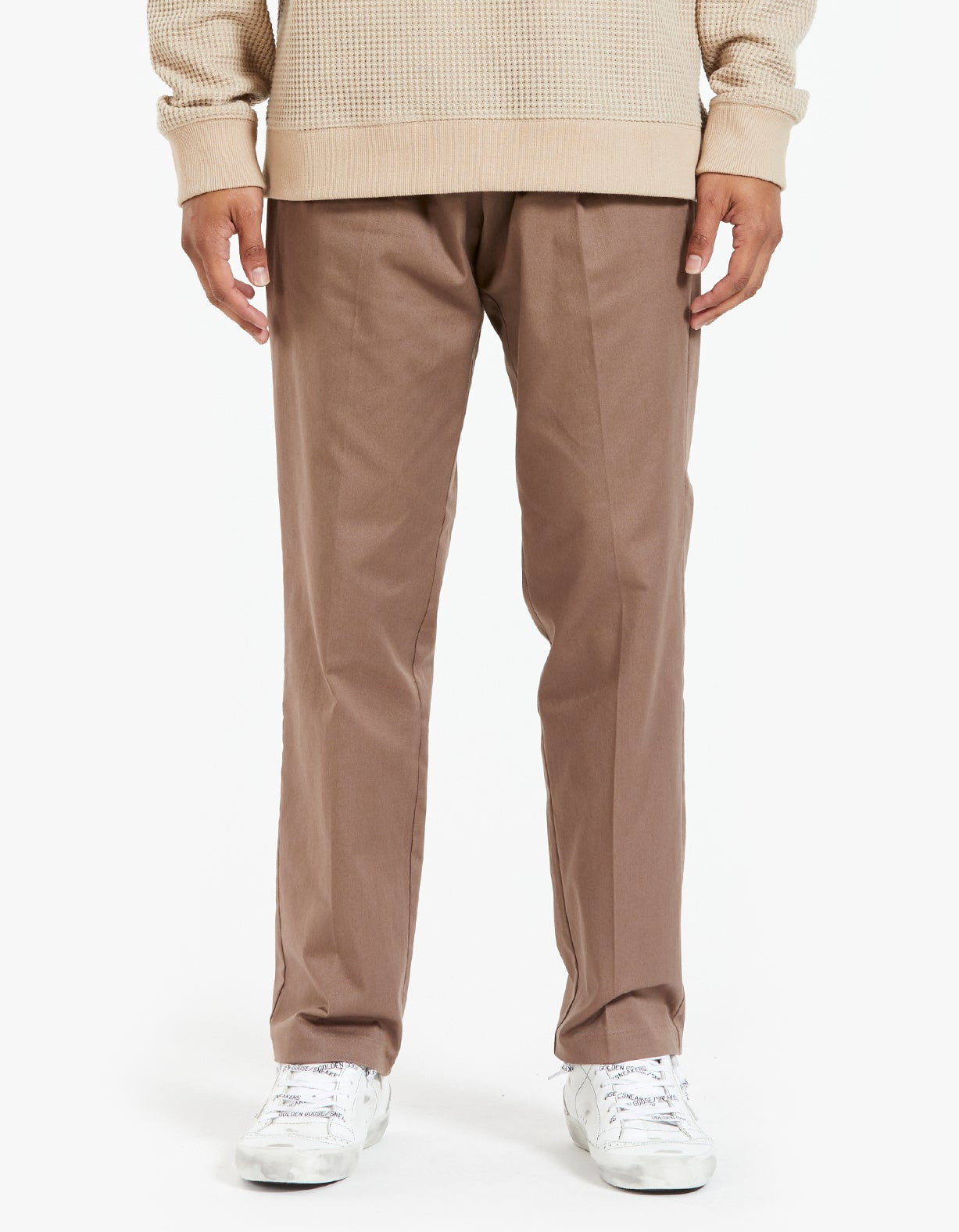 Lincoln Wide Trousers - Caribou