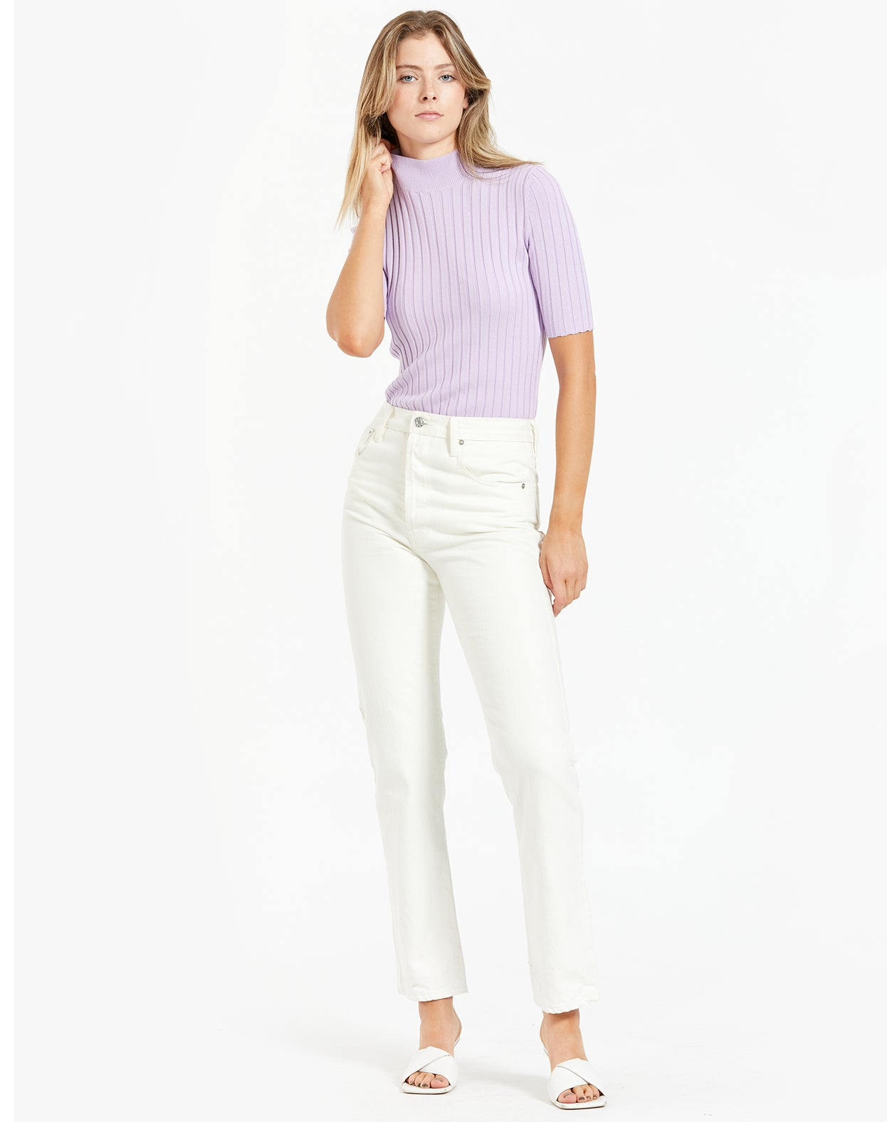 Ariana Knit Top - Lilac