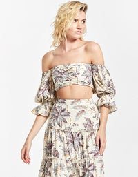 Avery Off Shoulder Top - Print