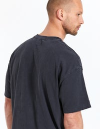 Dollar Sign S/S Tee - Faded Black