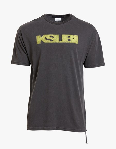 Ksubi x Superette Sign of the Times Biggie Tee - Faded Black/Yellow