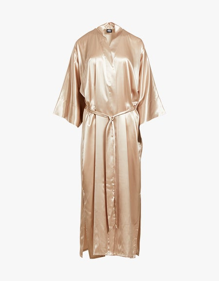 Silk Robe - Caramel