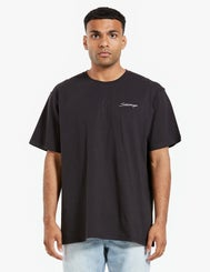 Saturdays Embroidered Tee - Black