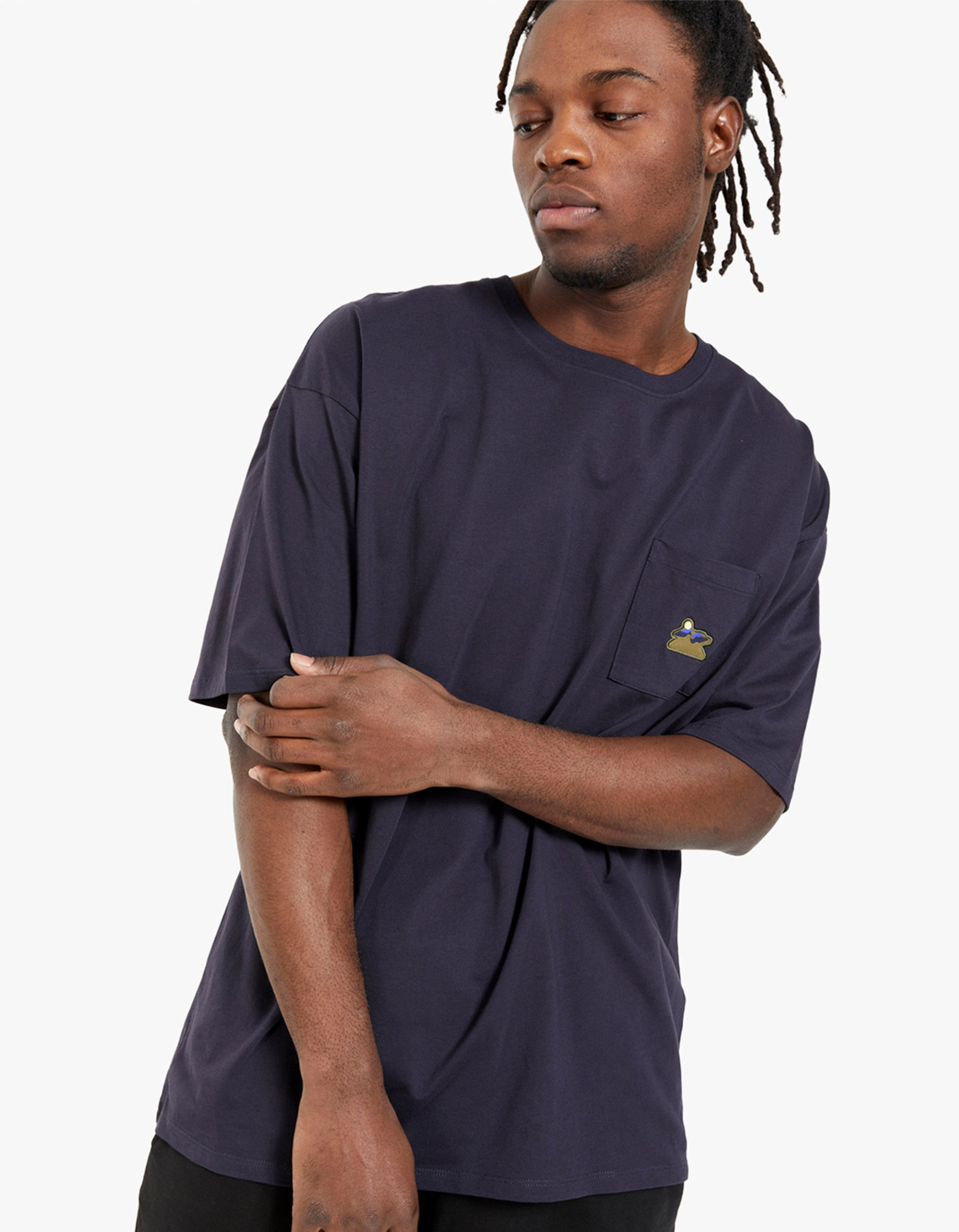 Mountain Patch Pocket Relaxed Tee - Midnight