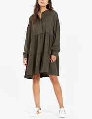 Margo Shirt Dress 12959 - Black Olive