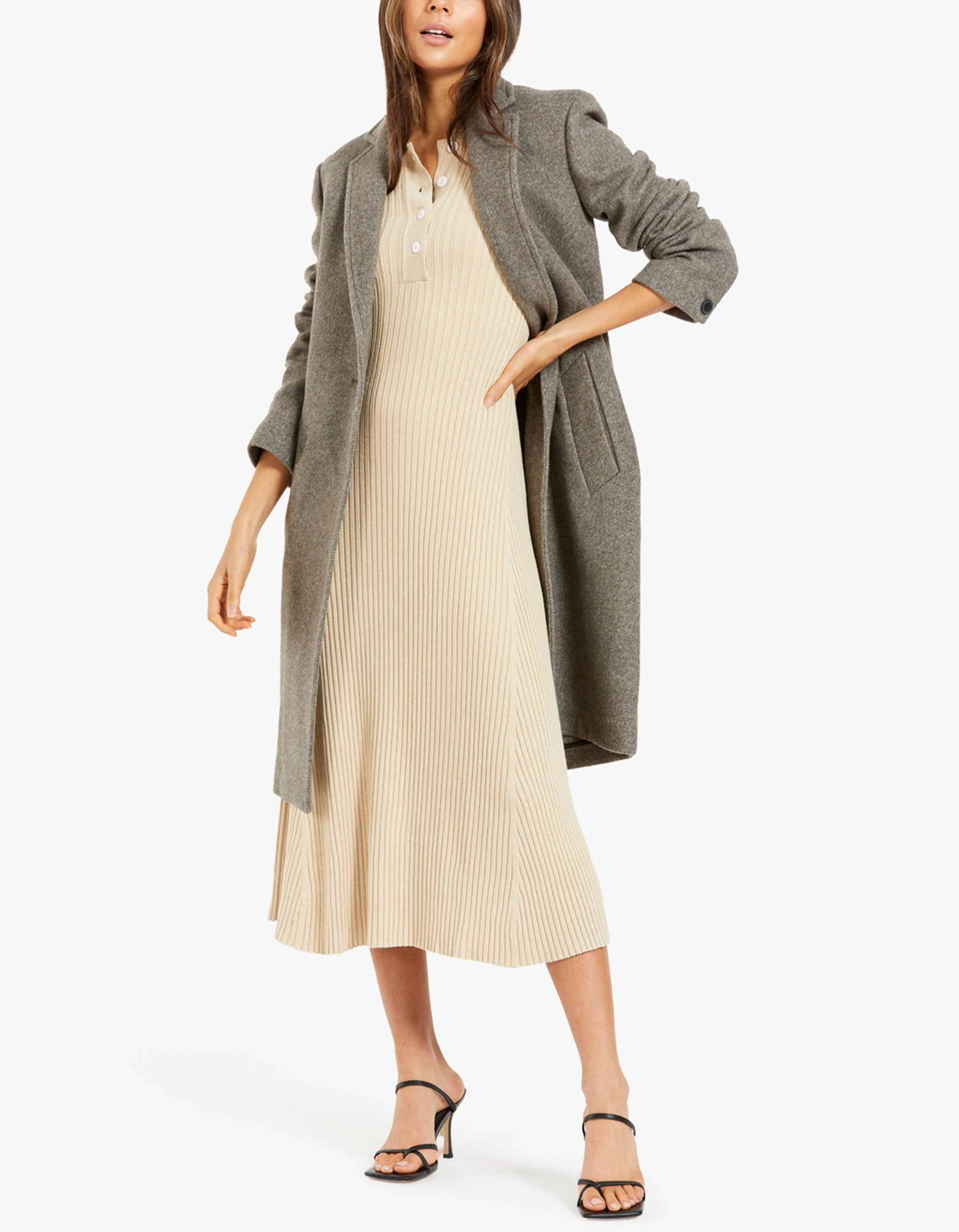 Lucy Polo Dress 13997 - Brown Rice