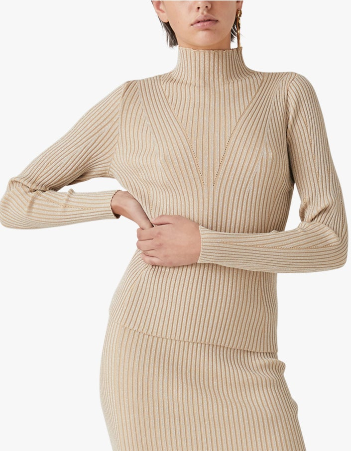 Mabel Knit Top - Biscotti