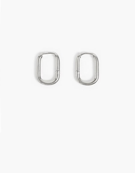 Poppy Oval Hoops - Gold Plated