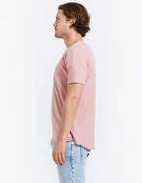 Mens Overdye Linen Tee - Washed Stone