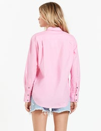 Haven Boyfriend Shirt - Pop Pink