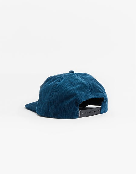 Standard Cord Relaxed Snapback Hat - Blue