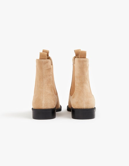 Chelsea Boot - Camel Suede