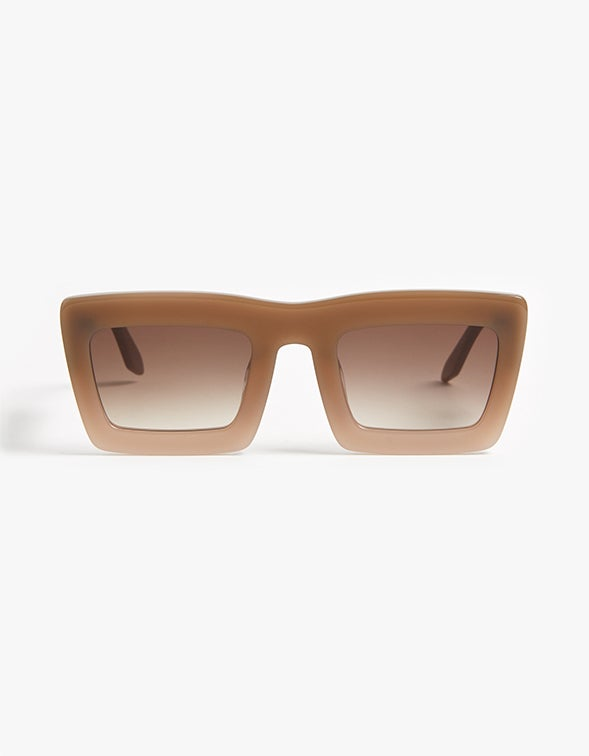 Black Asteroid - Toffee Fade to Ivory/Brown Gradient Lens