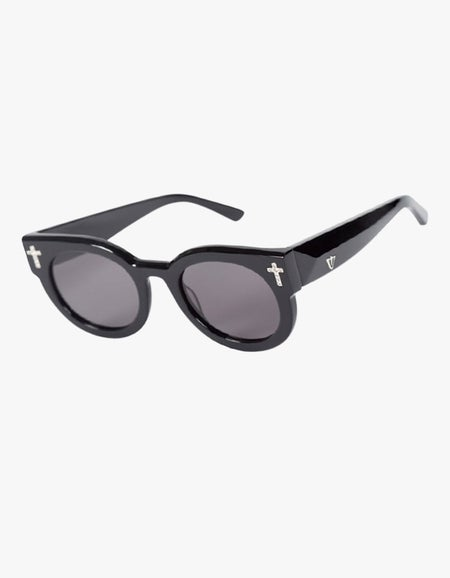 ADCC Zero - Gloss Black with Crystal Crosses/Black Lens